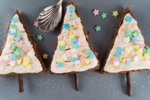 Brownie-Tannenbäume für Weihnachten