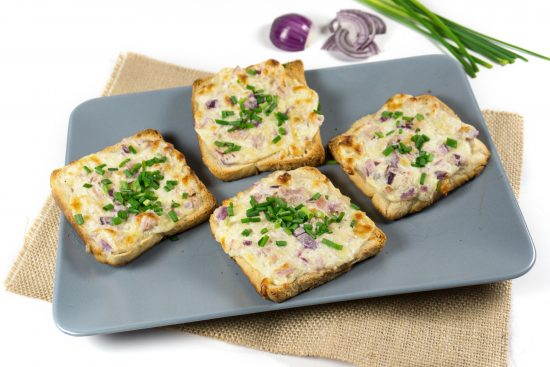 Flammkuchen-Toasts
