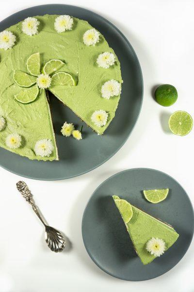 Matcha-Cheescake mit Limetten