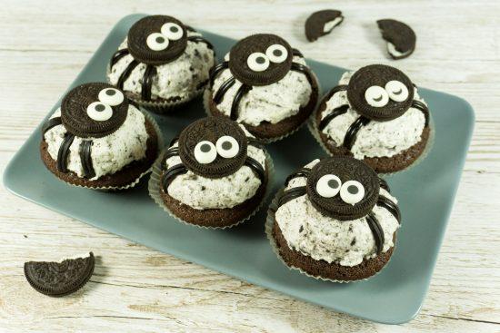 Spinnen-Oreo-Muffins