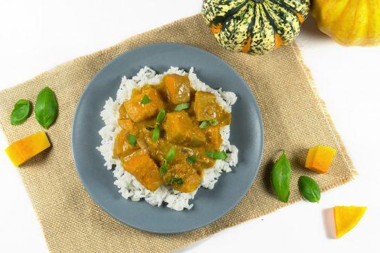 Kürbis-Curry mit Kokosmilch